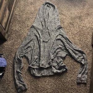 Light crop top hoodie
